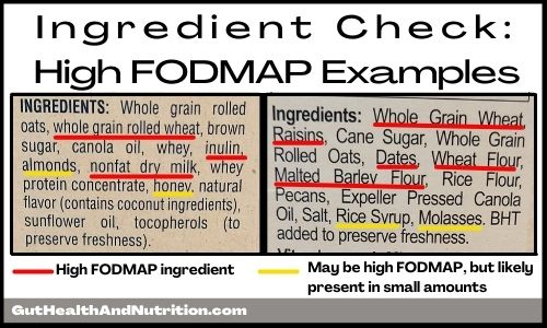 High FODMAP Cereal Ingredients Example
